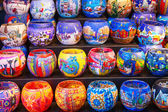 Colorful candlelights in market — Stock Photo