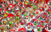Christmas decorations in the market — Stock Photo