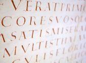 latin writing background — Stock Photo