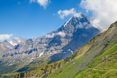 Mountain in the Jungfrau region — Stock Photo