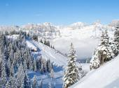 Winter in de zwitserse alpen — Stockfoto