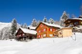 Winter in Swiss Alps — Stock Photo