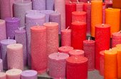 Colorful candlelights — Stock Photo