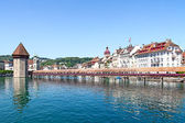 Lucern - famous swiss medieval town — Stock Photo