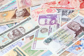 South American and African banknotes — Stock Photo