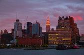 New York at sunset — Stock Photo
