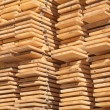 Stack of new wooden studs — Stock Photo #70385283