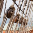 Masts of the old sailing ship — Stock Photo #70385645