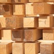 Stack of new wooden studs — Stock Photo #70385951