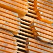 Stack of new wooden studs — Stock Photo #70386379