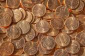 US Coins background — Stock Photo