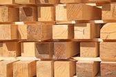 Stack of new wooden studs — Foto de Stock