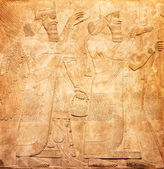Ancient sumerian stone carving — Stock Photo