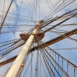 Old ship's masts — Stock Photo #71698583