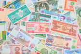 Variety of banknotes background — Stock Photo