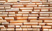 Postes de madera frescos — Foto de Stock