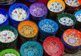 Turkish ceramic plates — Stock Photo