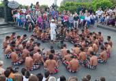 Balinese Kecak dance shown in Denpasar, Bali — Stock Photo