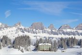 Typical swiss winter season landscape — Stock Photo