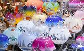 Candlelights on the Christmas market — Stock Photo