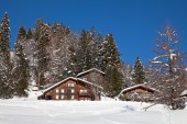 Winter in the swiss alps, — Stock Photo