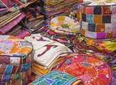Textile souk (market) in Dubai — Stock Photo