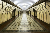 Modern walkway interior subway in Almaty — ストック写真