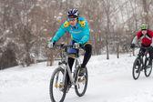 Inverno in bicicletta — Foto Stock