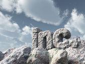 Inc rock — Stock Photo