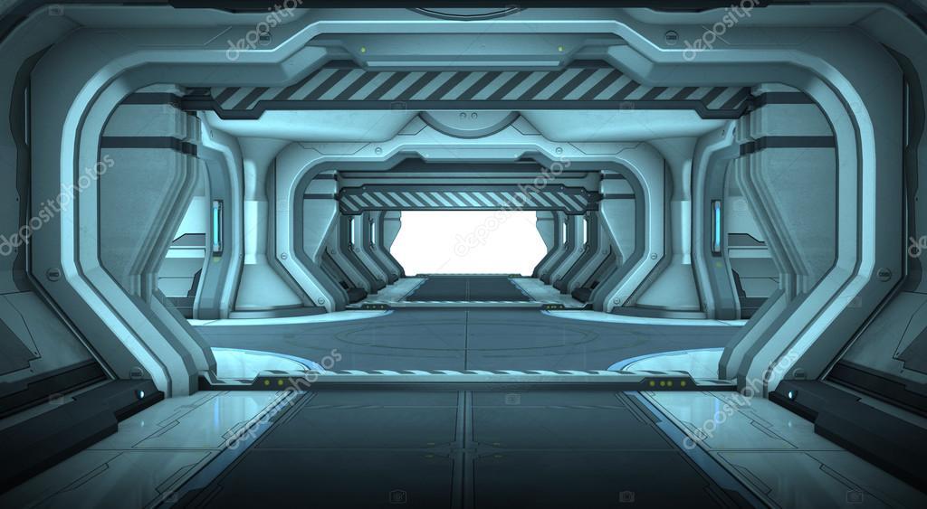 Dise o de interior de pasillo de ciencia ficci n nave for Interior nave espacial