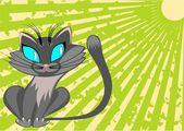 Gray cat — Stock Vector