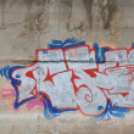 Concrete background with graffiti — Stock Photo #60758925