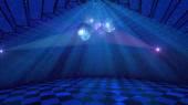 Blue disco background — Stock Photo