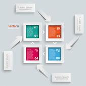Template rectangles design — Stock Vector