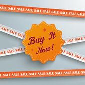 Sale Sticker with words  Buy it Now — Cтоковый вектор