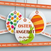 Sale sticker with lines, Easter Offer — Stock Vector