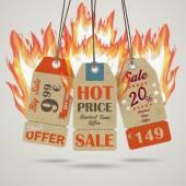 Sale Price Stickers — Stock Vector