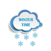 Cloud Snow Wintertime — Stock Vector