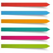 Color long banners — Stock Vector