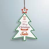 Venta Navidad pegatinas — Vector de stock