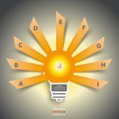 Инфографики дизайн с лампой — Cтоковый вектор