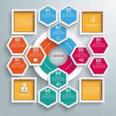 Hexagons Infographic Design — Stock Vector