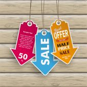 Colored Price Stickers — Stock Vector