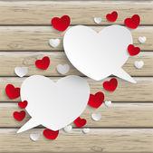 Hearts Speech Bubbles — Stock Vector