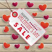 Valentinesday Price Sticker — Stock Vector