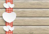 Towel Wood Hearts — Stock Vector