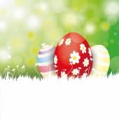 Velikonoční přání s vejci — Stock vektor
