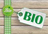 Bio Food Price Sticker — Stock Vector
