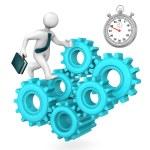 Businessman Gears Stopwatch — Stock Photo #72595529