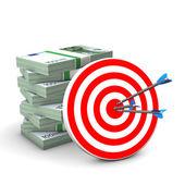 Red Target Money — Stock Photo